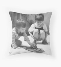 Saving the Silly Wet Chicken Throw Pillow