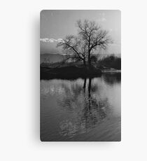 Twilight on Olt River Transylvania Canvas Print