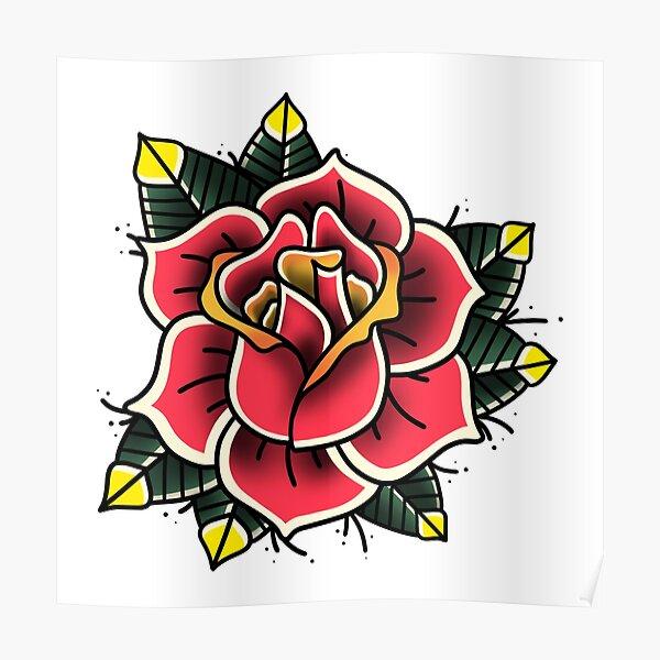 Rose Old School I Póster