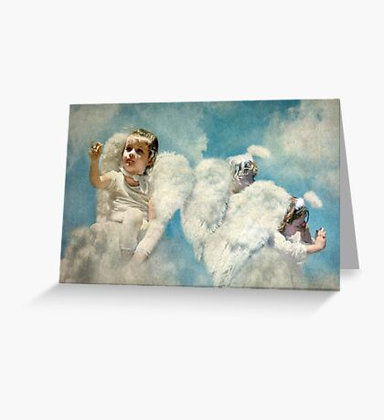 ~ Even Angels get Tired ~ Greeting Card