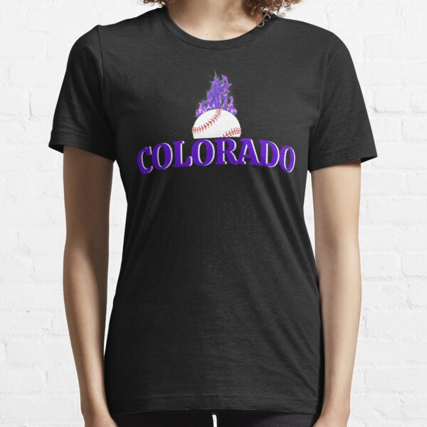 Colorado Baseball Flaming Fan Gift Design Essential T-Shirt