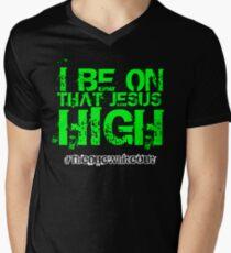 #Whiteout: I Be On That Jesus High Men's V-Neck T-Shirt
