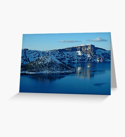 Crater Lake Winter Landscape Greeting Card