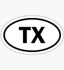 Texas - TX - ovaler Aufkleber und mehr Sticker