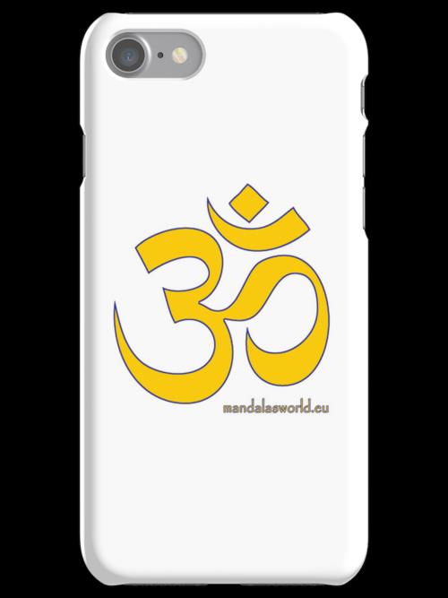 Buddhist Yellow Om by Mandala's World