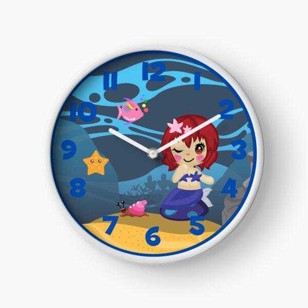 Mermaid clock Clock