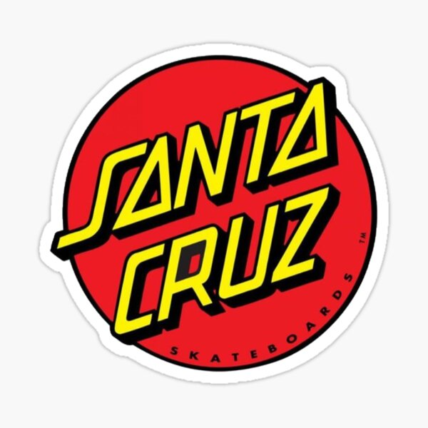 Red Santa Cruz sticker Sticker