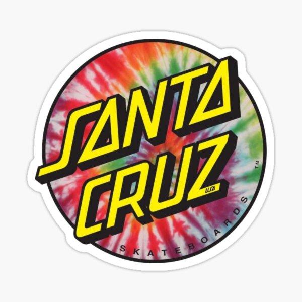 Tie Dye Santa Cruz Sticker Sticker