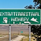 Extraterrestrial Highway Sign  by Henry Plumley