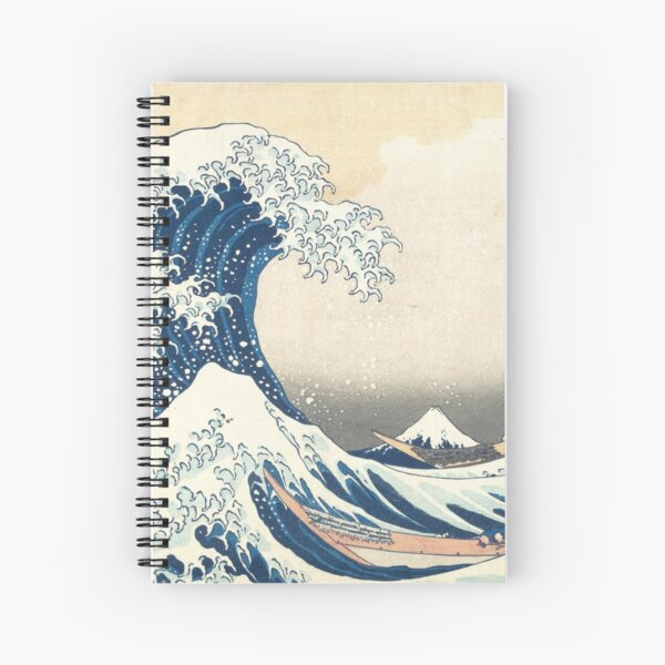 Japanese wave Spiral Notebook