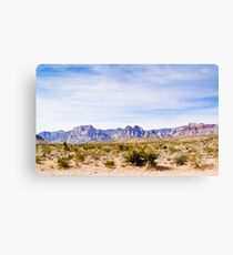Wide Landscape of Red Rock Canyon Canvas Print
