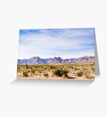 Wide Landscape of Red Rock Canyon Greeting Card
