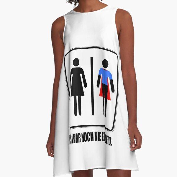 It Was Never A Dress Superhero Women's Power Girl Feminism Superpower Outfit For Strong Women A-Line Dress