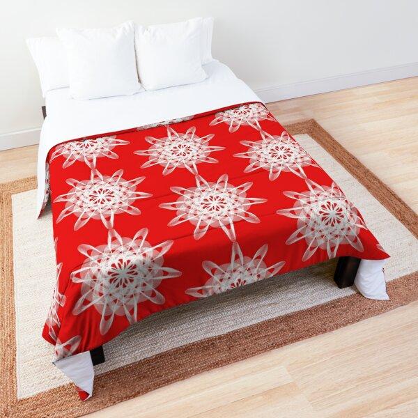 Spirograph Red White Comforter
