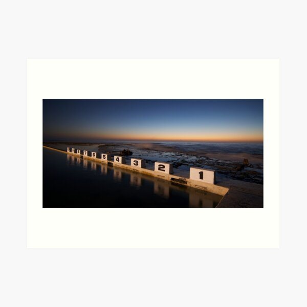 Merewether Ocean Baths at Dawn Art Print