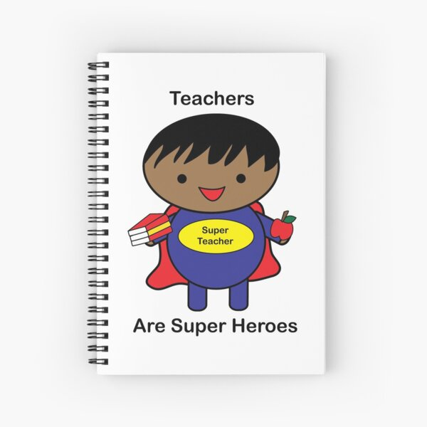 Teachers Super Hero African American Black Male Spiral Notebook
