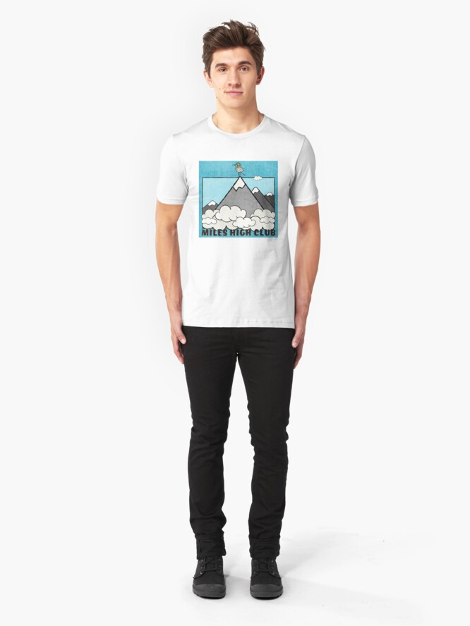 Alternate view of Miles High Club! Slim Fit T-Shirt
