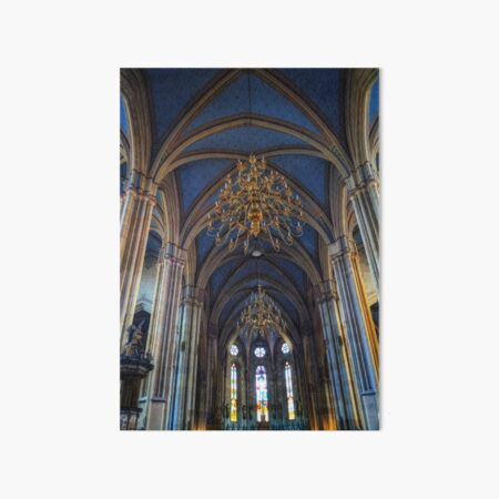 The interior of Zagreb Cathedral. Art Board Print