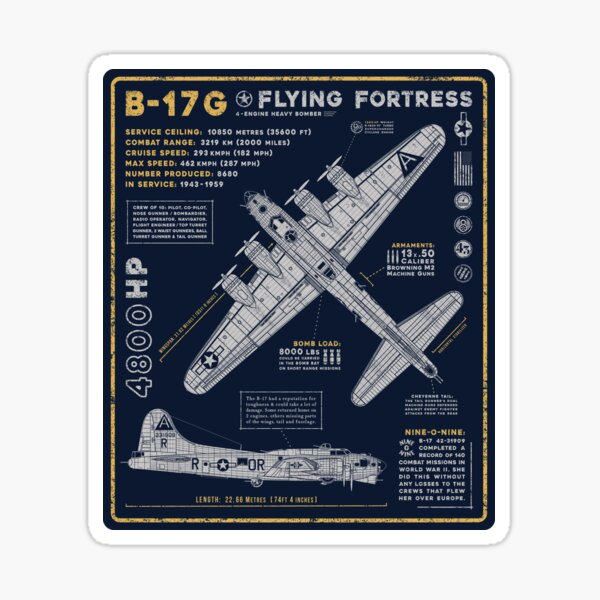 B-17 Flying Fortress Sticker