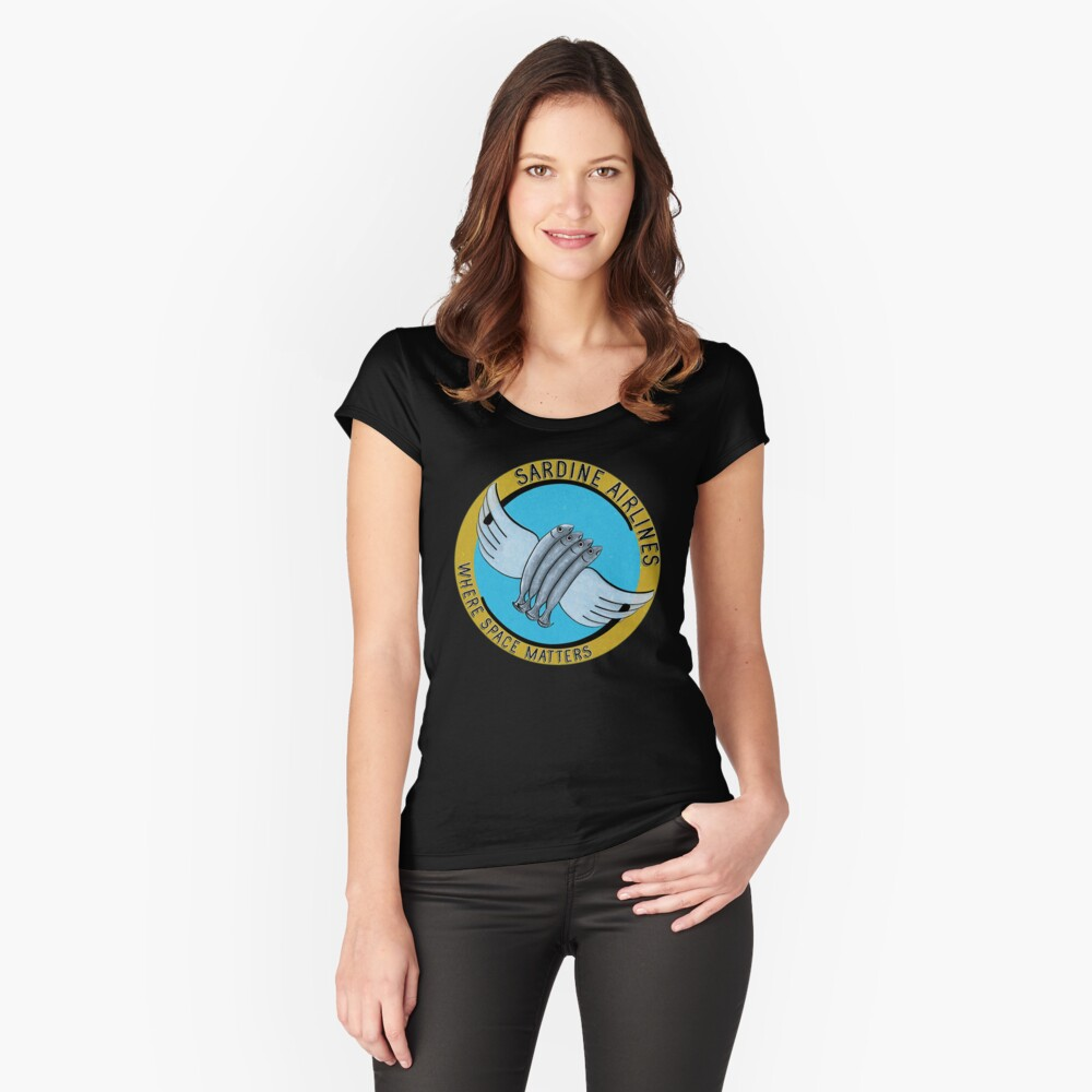 Sardine Airlines Fitted Scoop T-Shirt