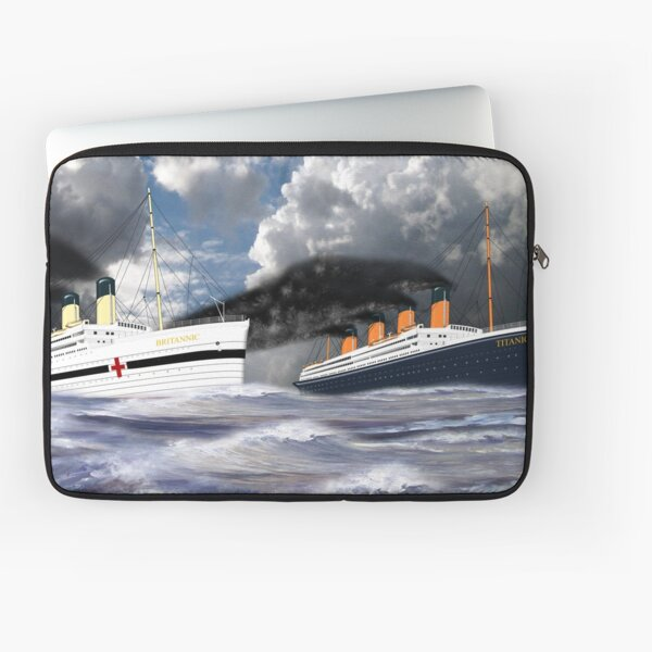 RMS Titanic and her Sister the HMHS Britannic early 20th century Laptop Sleeve