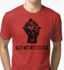 FREE THE AMBERED Tri-blend T-Shirt
