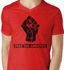 FREE THE AMBERED Men's V-Neck T-Shirt