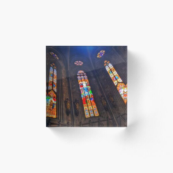 Stained glass from Zagreb Cathedral #2 Acrylic Block