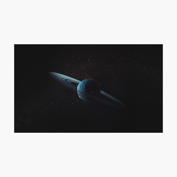 Saturns Shadow, Planet from Project Solari Photographic Print