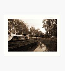 Paddle Steamer 1 Art Print