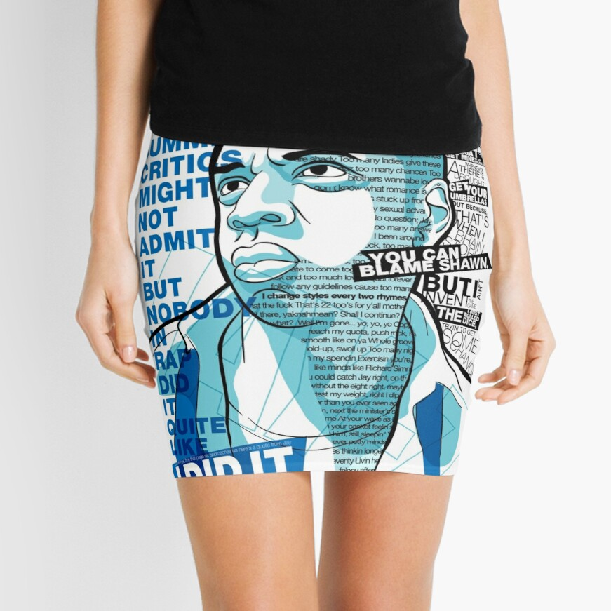 Jay-Z Eleven Straight Summers Mini Skirt
