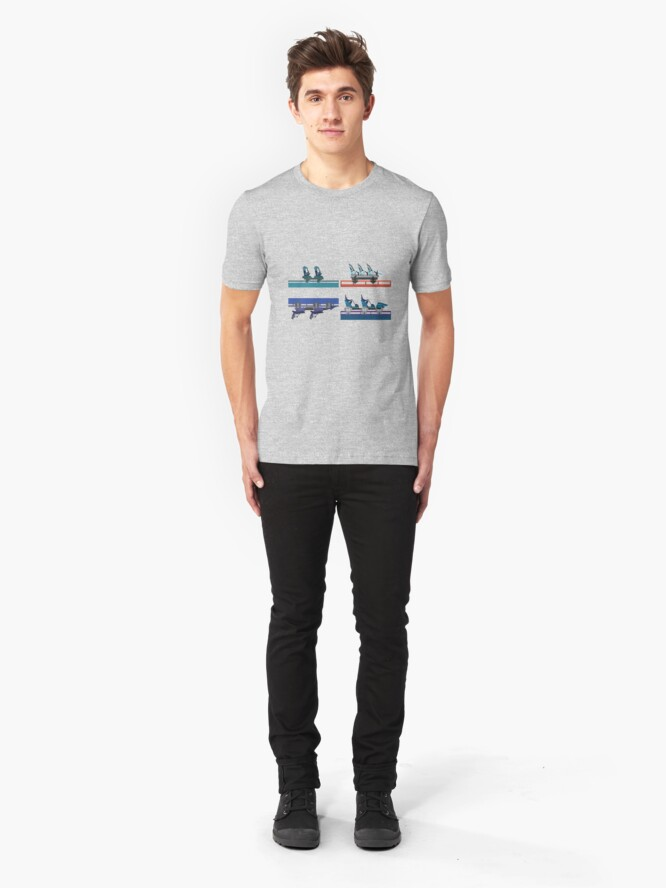 Alternate view of Seaworld Orlando Coaster Cars 2020 Slim Fit T-Shirt