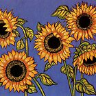 Black Centred Sunflowers by YouBeaut Designs