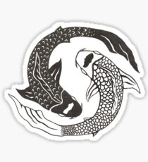 Ying and yang Sticker