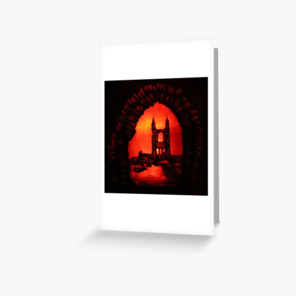 St Andrews Cathedral Pumpkin Carving Greeting Card