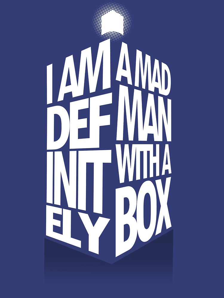 TShirtGifter presents: Madman With a Box | Unisex T-Shirt