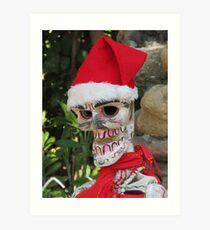 La Catrina as Santa Claus, Puerto Vallarta, Mexico Art Print