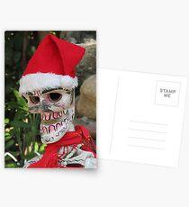 La Catrina as Santa Claus, Puerto Vallarta, Mexico Postcards