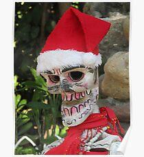 La Catrina as Santa Claus, Puerto Vallarta, Mexico Poster