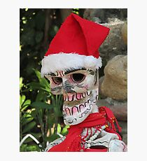 La Catrina as Santa Claus, Puerto Vallarta, Mexico Photographic Print