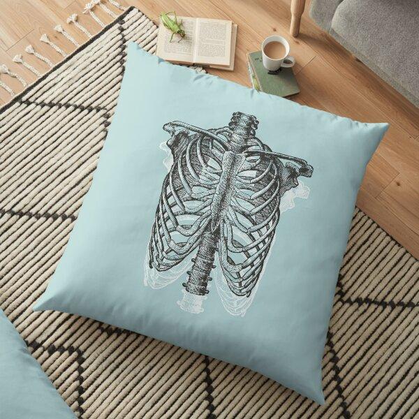 Anatomical Ribcage • Pastel Blue • Pastel Goth Floor Pillow