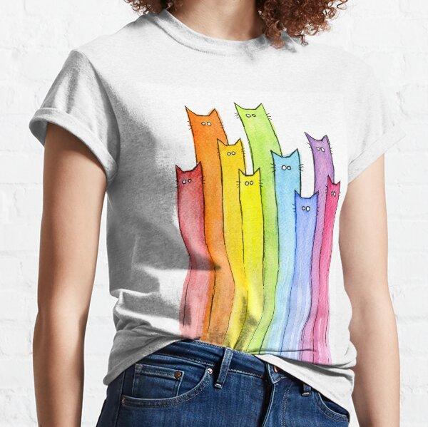 Rainbow of Cats Classic T-Shirt