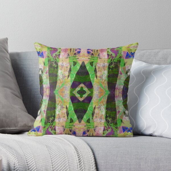 Abstract Tree Crossing Throw Pillow