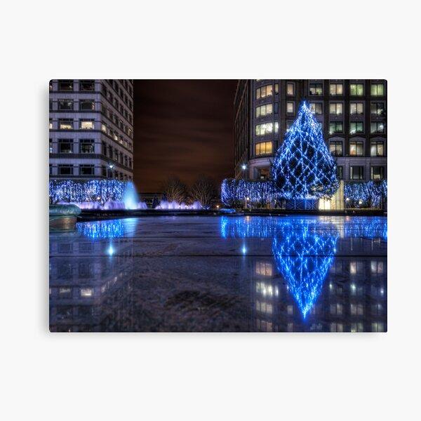 City Christmas Lights Canvas Print