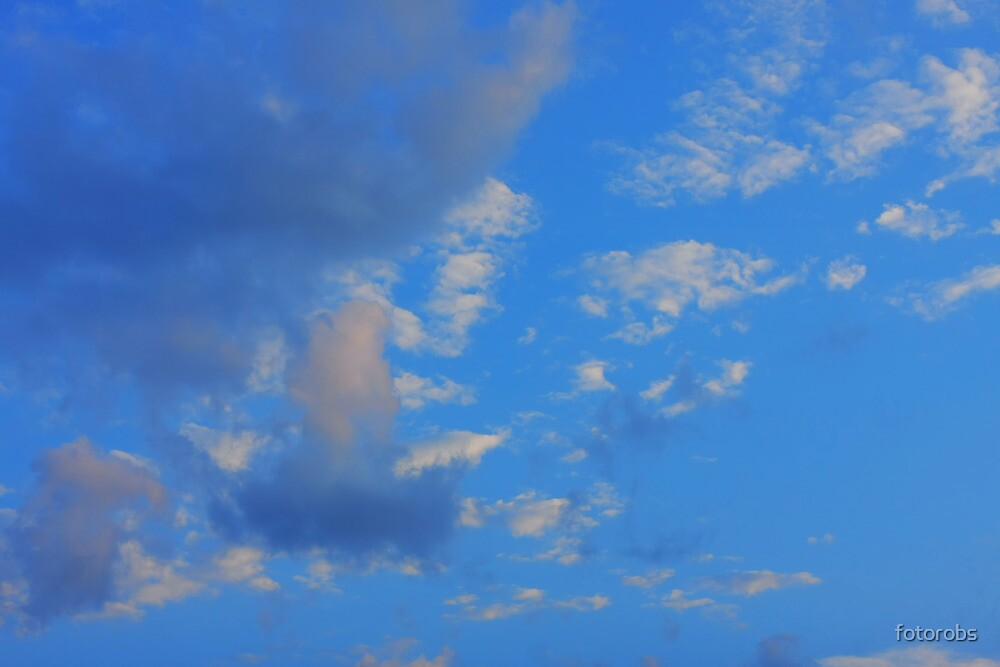Background of blue sky. by fotorobs