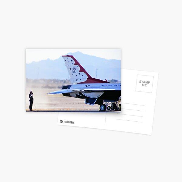 USAF Thunderbird #1 Engine Start Postcard