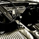 Behind the Wheel-Black & White by Ginadg73