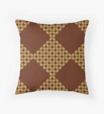 Javanese Batik Kawung Oval Diamond Chain Throw Pillow