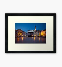 Evening in Piran Framed Print