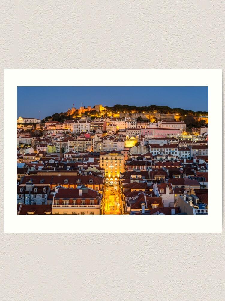 Alternate view of Evening over Lisbon, Portugal Art Print
